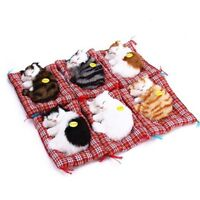 Plush toy Cat Kitten sleeping MEOW sound making pillow cushion nap Decoration