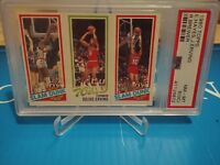 Elvin Hayes/Julius Erving/Ron Brewer - 1980 Topps - PSA 8(OC)NM-MT ~HALL OF FAME