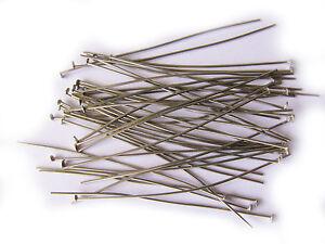 100 silber Kettelstifte 60 mm x 0,8 mm Nietstifte Prismenstifte basteln R260
