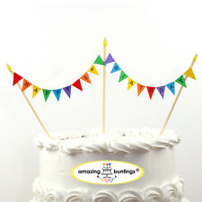 Happy 1st Birthday Bunting Cake Topper with 4Poles,Circus Banner,Hand Made in UK