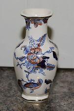 Masons Pottery Cathay VASO 5.5 in (ca. 13.97 cm) di altezza circa Blu Navy Salmone ORO MASON'S