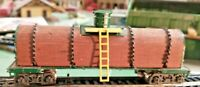 HO scale Hand Made Hand Crafted Wooden Tank Car  Very Unique
