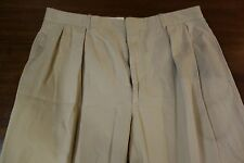 Polo Ralph Lauren by Caruso Light Brown Wool Dress Pants Size 35 Made Italy