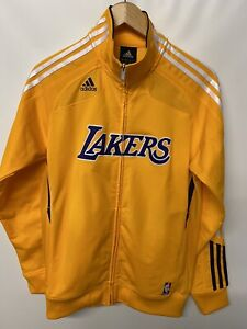 LOS ANGELES LAKERS Adidas Gold Yellow Warmup Jacket Men's Small