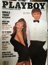 MEN'S March 1990 Playboy Magazine ~ DONALD TRUMP Cover Vintage Advertising