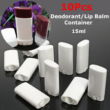 10pcs White Empty Lip Balm Tube Portable Deodorant Containers Lipstick Lip Tub