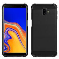 Coque Etui Silicone Souple en Fibre de Carbone Samsung Galaxy J6+/ J6 Plus 2018