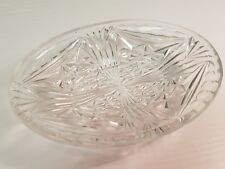 Small Oval Decorative Glass Trinket Dish Ideal for Dressing Table or Soap Dish