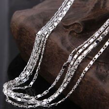 "5pcs 2mm 925 Silver Plated Link Chain Necklaces 18"" Wholesale Necklace Chains"