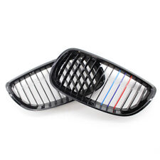 Fit For BMW E92 E93 3 Series 2DR Cabriolet Gloss Black M-Color Kidney Grille 2X