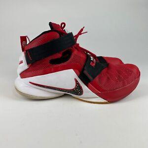 Nike Lebron Zoom Soldier IX 9 University Red Champ Basketball 749417-606 Size 9