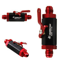 1x AN6 Aluminum Inline Fuel Shut Off Valve Cut Off Red & Black Stylish Car Tool
