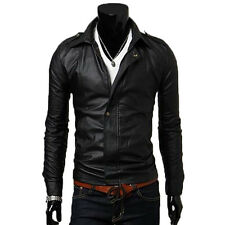 Jacke aus Leder Mann Männer Leder Jacke Kleidung Blouson Homme Cuir N14