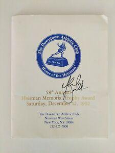 Marshall Faulk Signed 1992 Heisman Trophy Packet