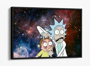 RICK AND MORTY -DEEP FLOATER/FLOAT EFFECT FRAMED CANVAS WALL PRINT