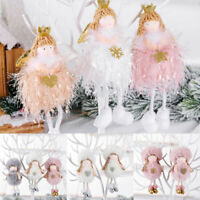 Christmas Angel Plush Toy Doll Pendant Xmas Tree Hanging Party Ornaments Decor
