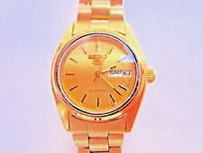 * YELLOW TONE SEIKO AUTOMATIC WITH DAY DATE FEATURE WATCH RUNS