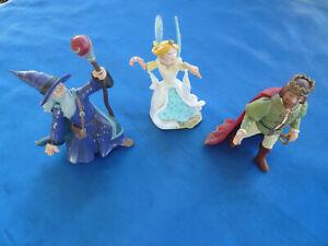 3 edle Fantasy-Figuren: ZAUBERER, KÖNIG, ELFE/FEE - CE Papo 2002