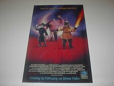 PUPPET MASTER 2 FULL MOON ENTERTAINMENT NO STRINGS ATTACHED MOVIE POSTER PIN UP