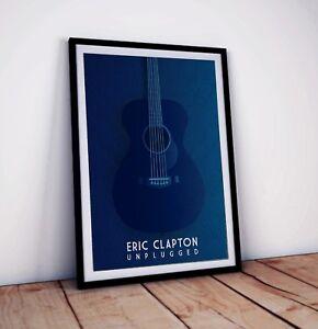 Eric Clapton Poster | Unplugged album art print | Size: 42 x 29.7 cm (A3)