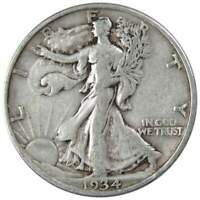 1934 Liberty Walking Half Dollar VG Very Good 90% Silver 50c US Coin Collectible