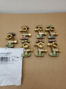 Lot of 7 BrassCraft 1/2 in.Nominal Inlet x 3/8 in.O.D.Compx1/4in.O.D.Dual Outlet