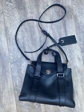 Marc by Marc Jacobs Turn Lock 🖤 Saffiano Black Leather Small Crossbody Handbag