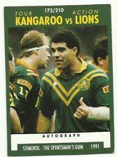 1991 NRL SCANLENS STIMOROL #172 KANGAROOS VS LIONS TOUR MAL MENINGA CARD