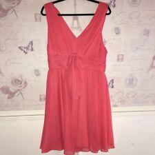 Vestido De Baile £ 220 Vera Wang Nuevo Coral Naranja Vestido para Baile de graduación de Carreras Ascot Arco Skater 14