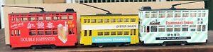 Three Diecast models of Double-Deck  Hong Kong Trams