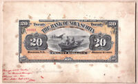 Unique 1903 $20 Bank of Nova Scotia Printers Model  No issued Notes exist