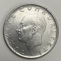 1977 Turkey 1 Lira Stainless Steel Circulated Coin   (2143)