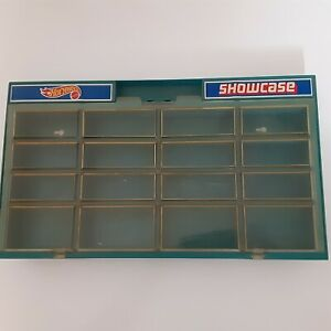 Vintage 1981 Hot Wheels Showcase Blue Display Case Holds 16 Cars Stand or Hang