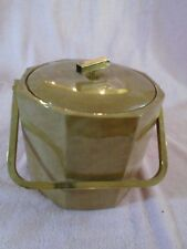 Vintage George Briard Ice Bucket Barware 1960'S Brown Vinyl Plastic