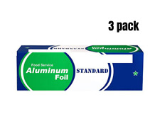 3 Pack Food Service Heavy Duty Aluminum Foil Roll (12 in x 1000 ft)