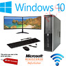Cheap HP Office PC Quad Core i5 i7 RAM  Windows 10 HDD SSD Desktop Dual Monitor