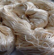 Luxury Maharaja Laceweight Silk Yarn, 80g. Cream. Weaving/Textiles/Crochet/Knit