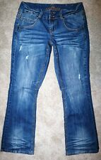 Almost Famous Women's Jeans Size 14 Distressed Flare