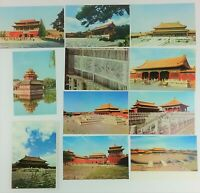 10 Photo Postcards Peking China Former Imperial Palaces Color 1976 Vintage