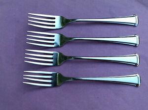 4 S.S.S. By Oneida ABERDEEN / MAESTRO / ST. LEGER Stainless Dinner Forks
