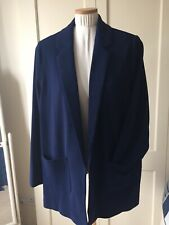 Navy Edge To Edge Unlined Jacket, Size 22, Never Worn. BNWT