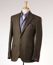 NWT $2895 SARTORIA PARTENOPEA Woven Green Wool-Cashmere Sport Coat 44 R (Eu 54)