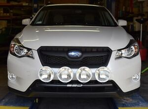 Fits 2013-2014 Subaru XV Crosstrek RALLY LIGHT BAR, Bull Bar, 4 Light Tabs!