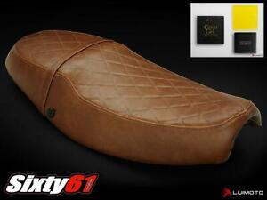 Triumph Thruxton Seat Cover with Gel 2004-2013 2014 2015 Luimoto Brown Vintage
