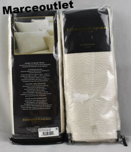 Donna Karan Home Aura Collection EURO Pillowshams Ivory