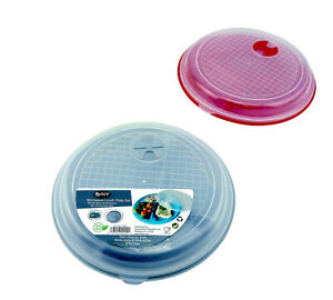 Divided Microwave Portion Plate Vented Lids Lunch Dinner Diet BPA Free 2 Pack