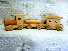 Wooden Toy 3 Car Train (Tanker Car) (L)(Unfinished)
