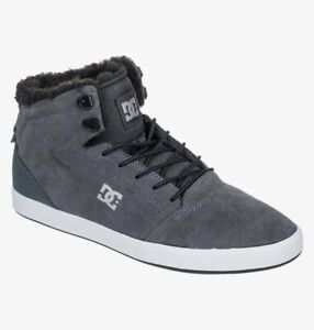 DC Men's CRISIS Sherpa Winter CHARCOAL GREY  Mid Top Shoes Trainers UK 8 EU 42