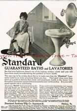 1910 STANDARD BATHS & LAVATORIES Enameled Bathroom Fixtures Paper Ad