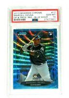 Marcell Ozuna PSA 10 2013 Bowman Chrome Draft Blue Wave Refractor Rookie RC Mint
